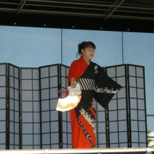 Japanese Dance on stage